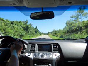 晴れた日のドライブ運転席のイメージ