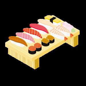 寿司一人前のイラスト