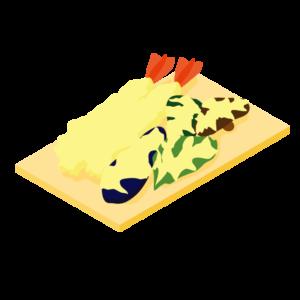 天ぷら盛り合わせのイラスト