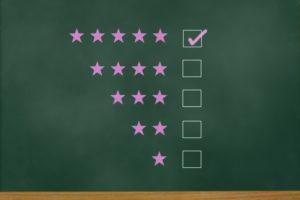 五つ星評価のイメージ